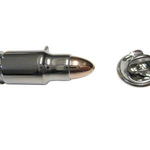 Two Toned Rifle Bullet Design Lapel Pin
